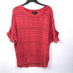August Silk Open Knit Dolman Sweater